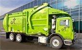 GFL garbage truck green
