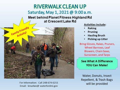 Riverwalk Clean Up
