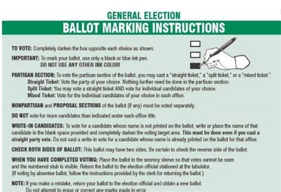 ballot marking instructions general election