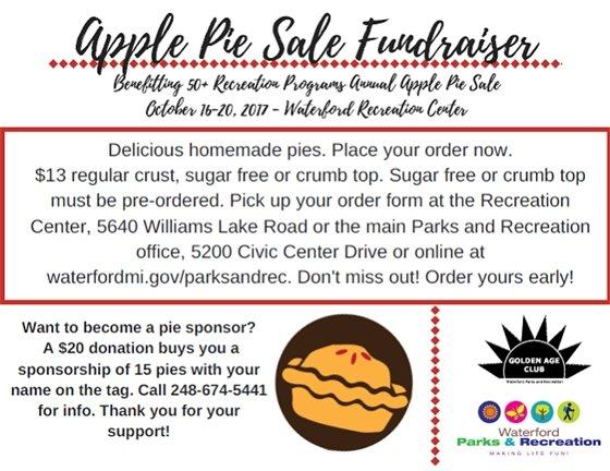 Apple Pie Sale