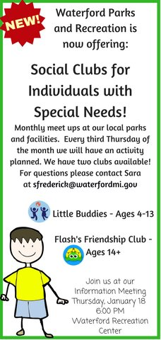 Social Clubs for Special Needs