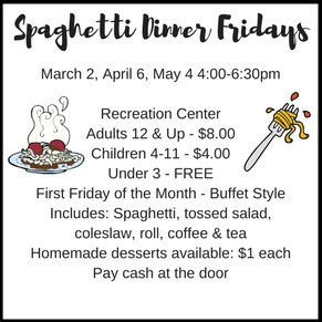 Spaghetti Dinner Fridays
