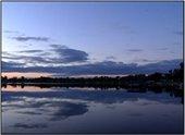 waterford lake at sunset