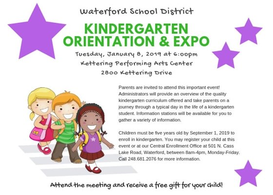 Kindergarten Orientation & Expo