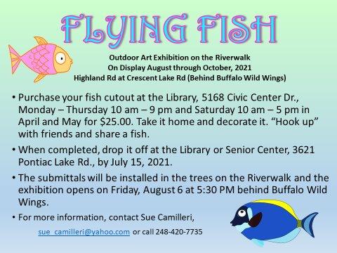 Outdoor Art Exhibit - Flying Fish