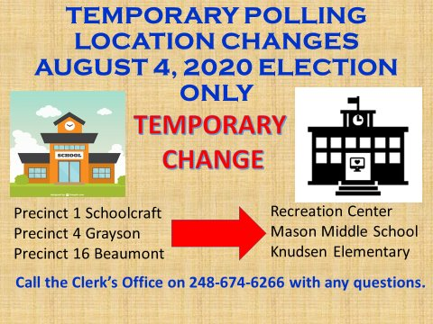 Temporary Polling Location Changes