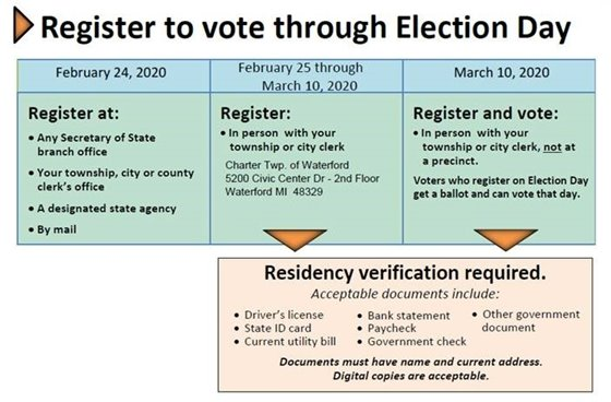 register to vote through election day