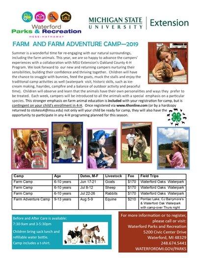 Farm Camp with MSU 4H