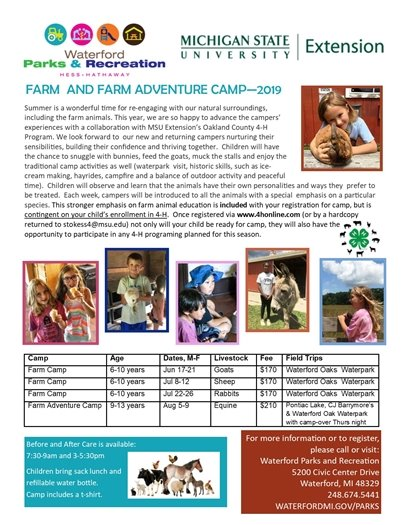 Farm Camp with MSU 4H