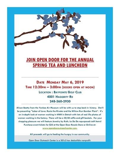 Open Door Outreach Spring Tea