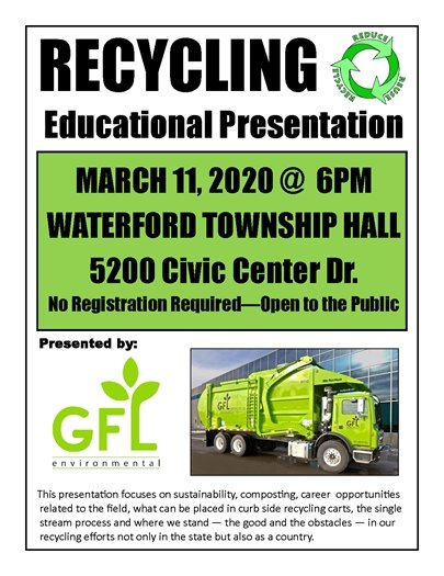 Recycling Educational Presentation Flyer
