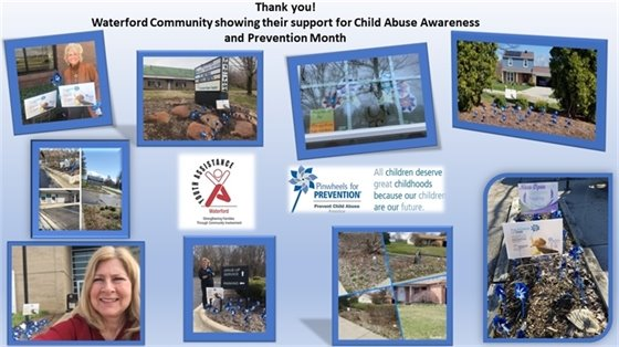 Pinwheels for Prevention - Thank you Waterford!