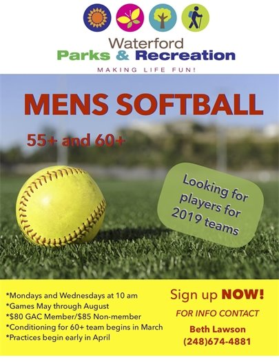 Mens 55+ Softball