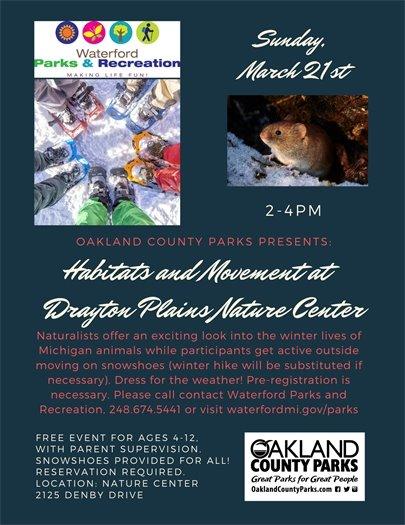 Nature Center Habitat Event