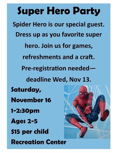 Super Hero Party 2019