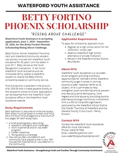 Betty Fortino Phoenix Scholarship