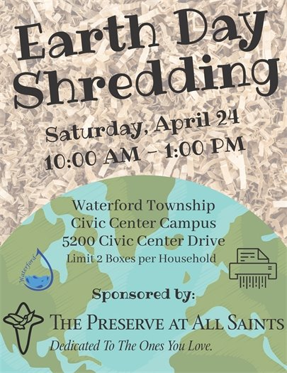Earth Day Shredding Event