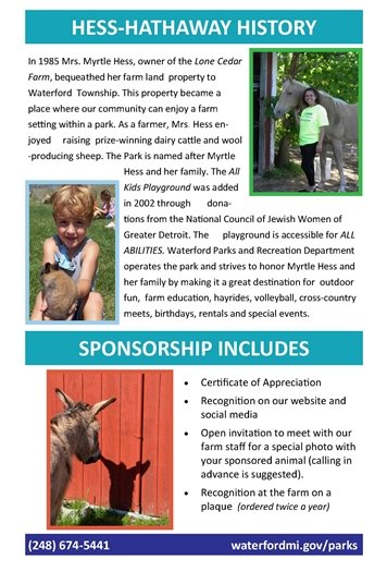 Farm Animal Sponsorship