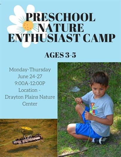 Preschool Nature Enthusiast Camp