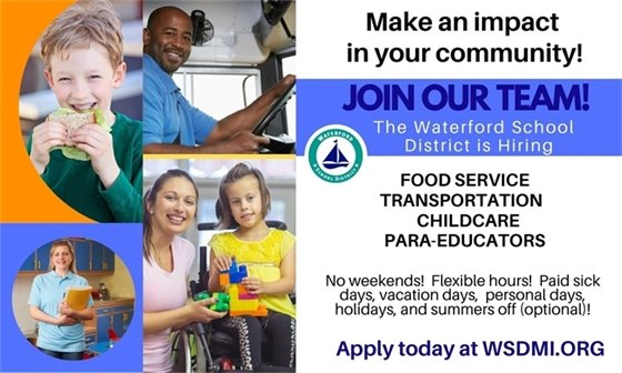 Join Our Team - Waterford School District is Hiring