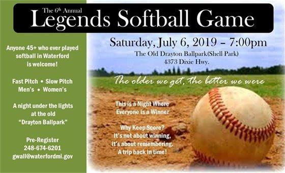 Legends Softball Game