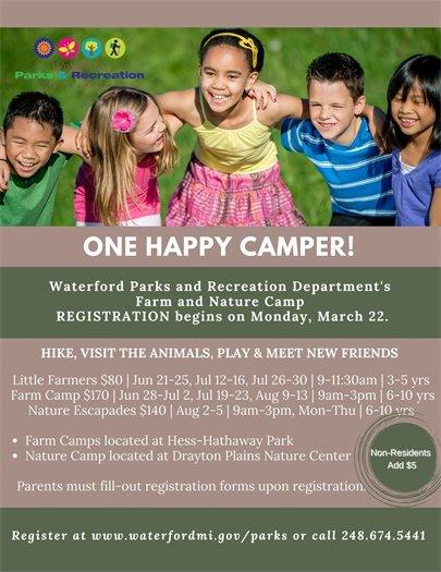 Farm & Nature Camp Registration