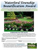Beautification Award Flyer