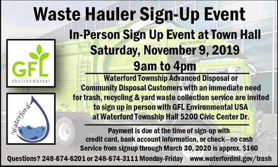 Waste Hauler Sign Up Event