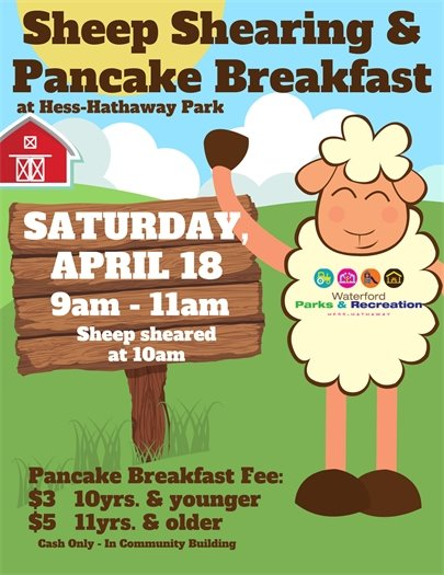 sheep shearing & pancakce breakfast