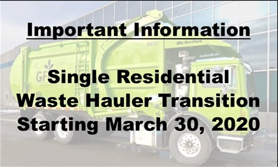 Information Single Waste Hauler transition