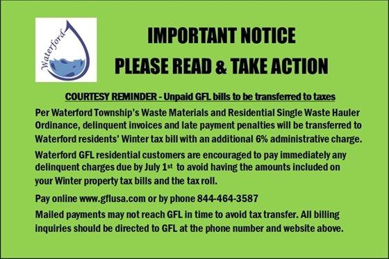 tax transfer reminder