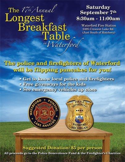 Longest Breakfast Table event flyer