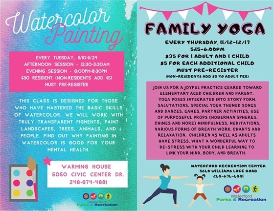 Watercolor and Family Yoga