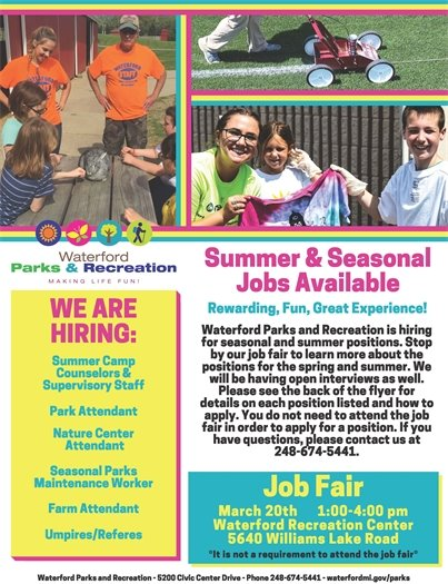 Summer Jobs page 1