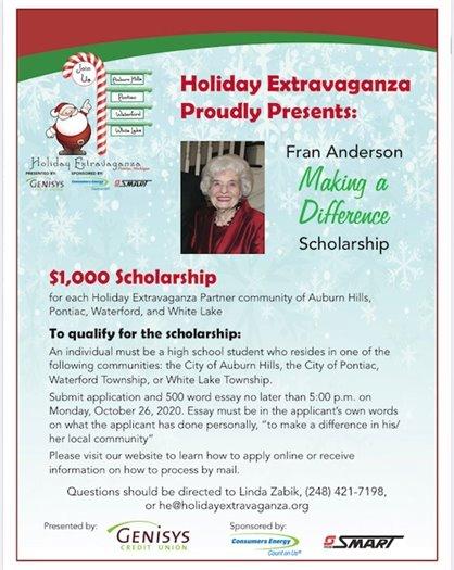 Fran Anderson Scholarship