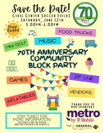 Community Block Party to Celebrate 70 years!