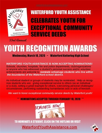 WYA Youth Recognition Awards