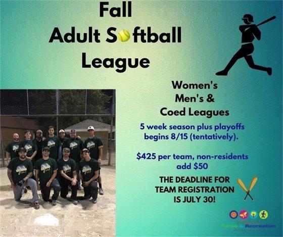 Fall Adult Softball League