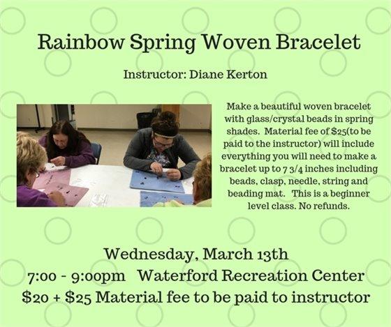 Rainbow Spring Woven Bracelet