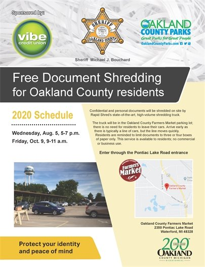 Free document shredding Oct. 9