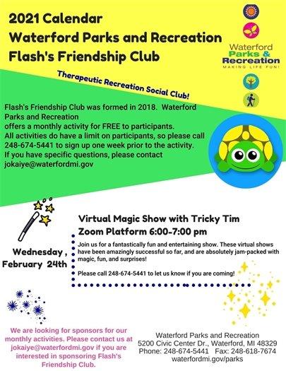 Magic Show for Flash's Friendship Club