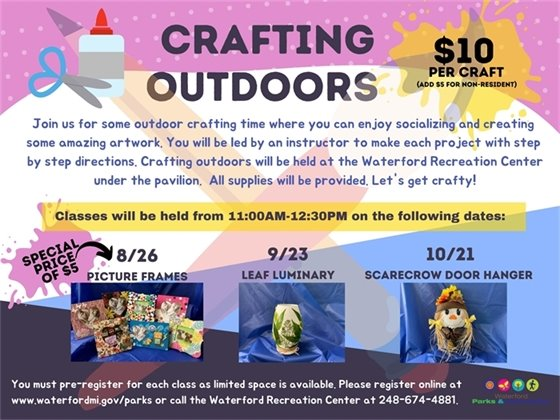 Crafting Outdoors
