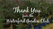 thank you from the garden club