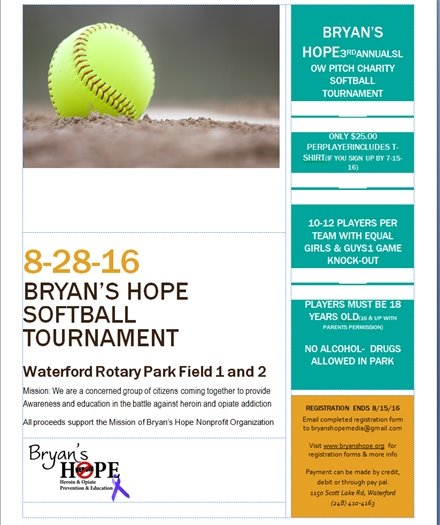bryan's hope softball tourney