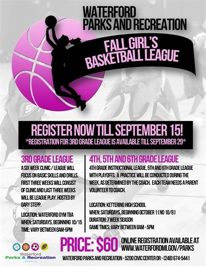 Girl's Basket Ball Flyer