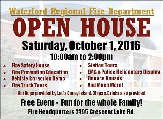 Fire Dept. Open House 10/1