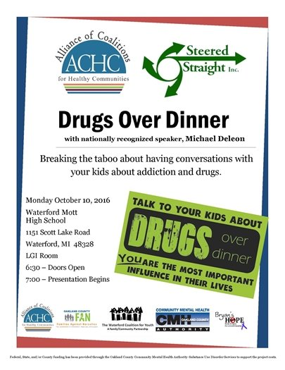 drugs over dinner steered straight