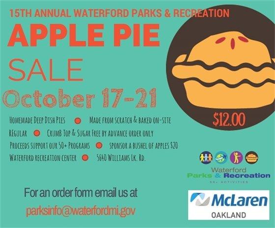 Apple Pie Sale 2016