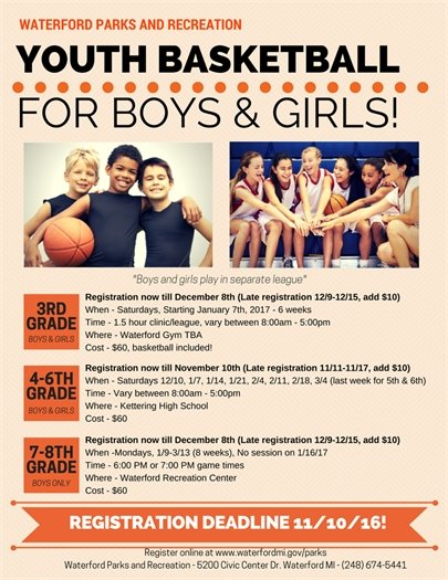 Youth Basketball Flyer 2016