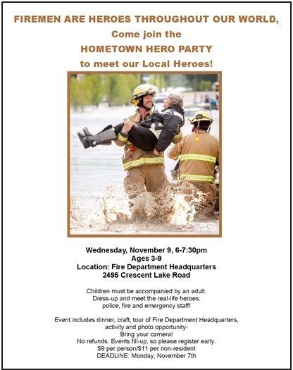 hometown heroes party